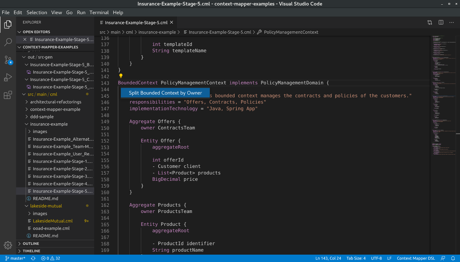Architectural Refactoring Application in VS Code