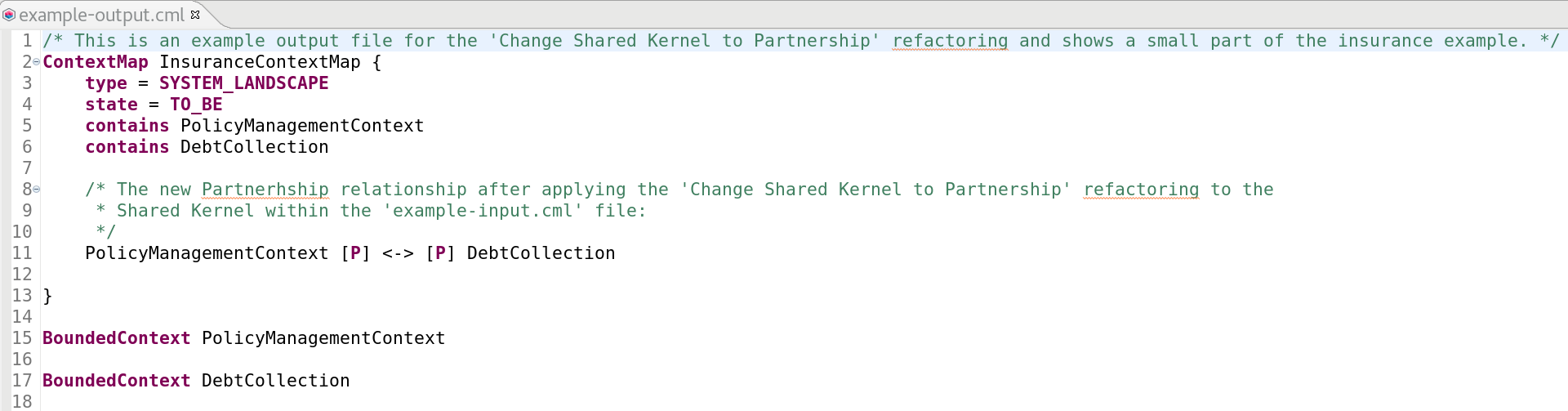Change Shared Kernel to Partnership Example Output